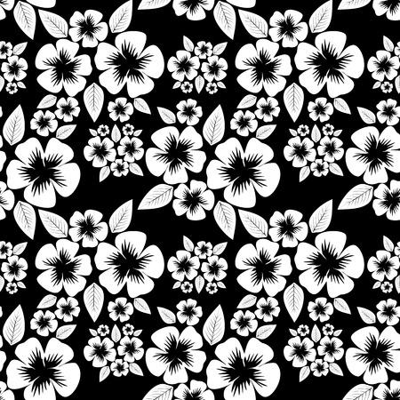 greener: Seamless monochrome flower Pattern.