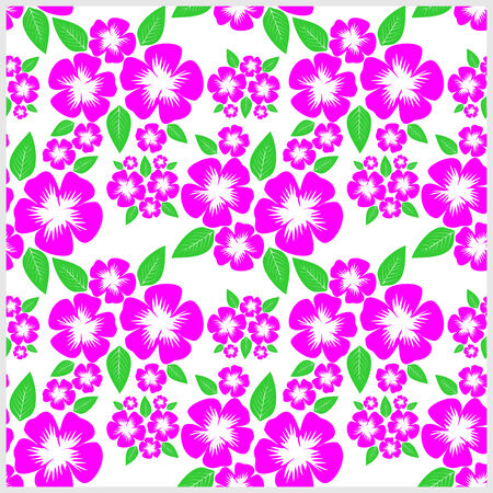 Seamless Pattern with pink Flowers.
