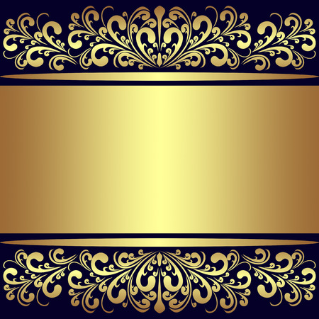 Luxury Background with golden royal Borders.  Vector