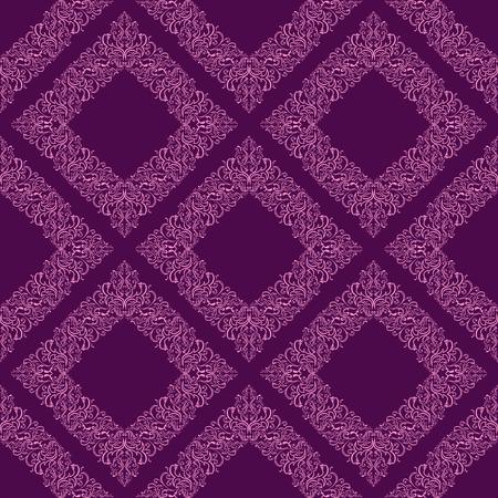 Geometric seamless floral Wallpaper.  Vector