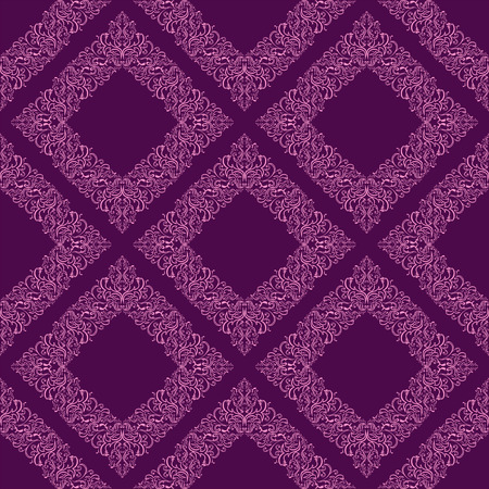 regency: Geometric seamless floral Wallpaper.  Illustration