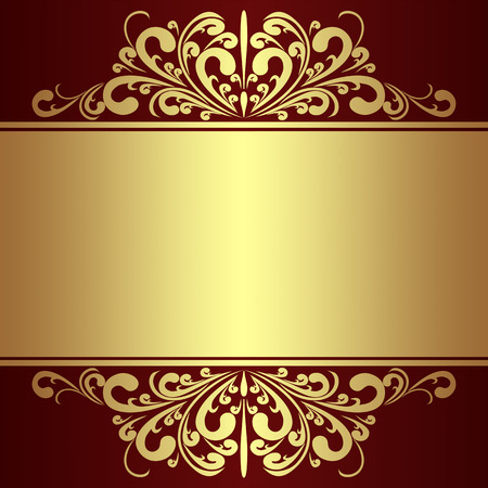 scroll border: Luxury Background with golden royal Borders.