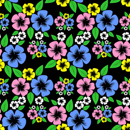 Colorful flower seamless Pattern Stock Photo