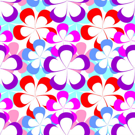 greener: Abstract seamless Pattern with colorful Flowers. Stock Photo