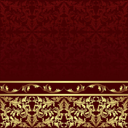 golden background: Luxury ornamental Background with golden floral Border.