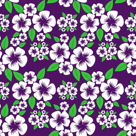 greener: Flower seamless Pattern with white Flowers on violet.