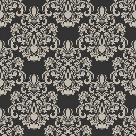 damask wallpaper: Luxury seamless damask Wallpaper.