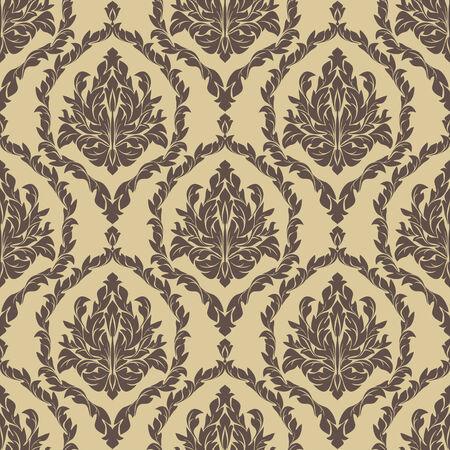 Naadloze retro bloemen Wallpaper