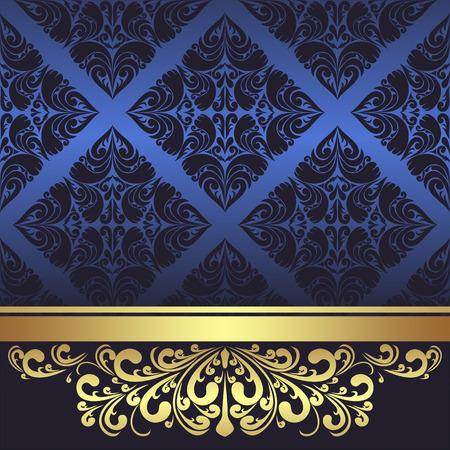 Luxury Background with rich golden Border
