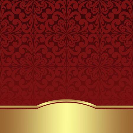 Fondo ornamental de lujo con la frontera de oro Foto de archivo - 35530209