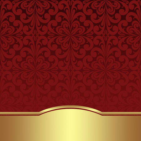 Luxury ornamental Background with golden Border Stok Fotoğraf - 35530209