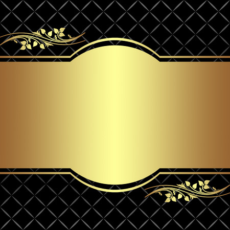 Elegant Background with floral Elements Illustration