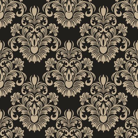 luxurious seamless wallpaper: Seamless damask floral Wallpaper for design Illustration