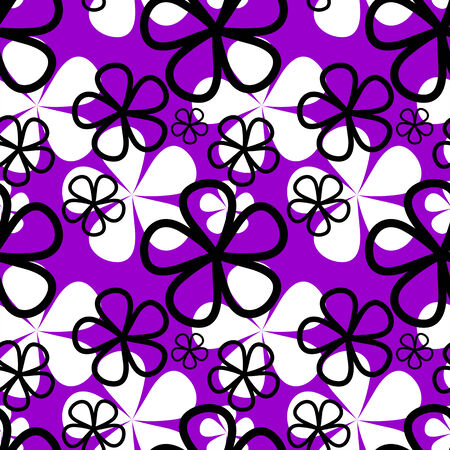 violet flower: Abstract violet flower seamless Pattern.