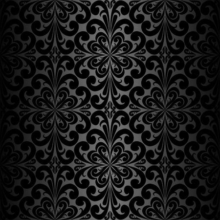 papier peint noir: Seamless ornement Fond d'�cran noir Illustration