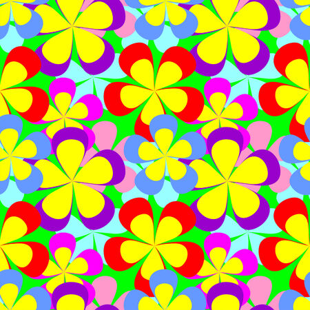 Abstract seamless colorful flower Pattern