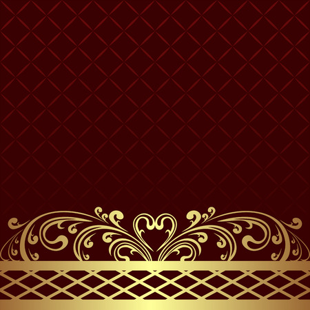 luxury background: Luxury Background with golden floral Border.