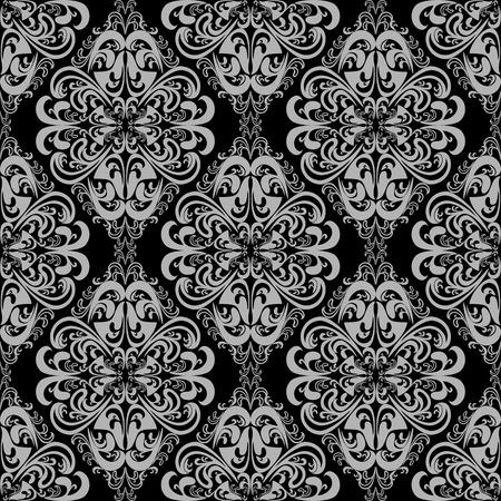 Seamless floral damask Wallpaper for design Vector