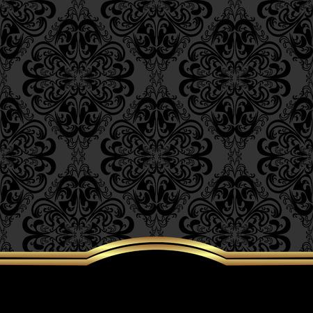 Elegant ornate Background with border for design. 免版税图像 - 41198378