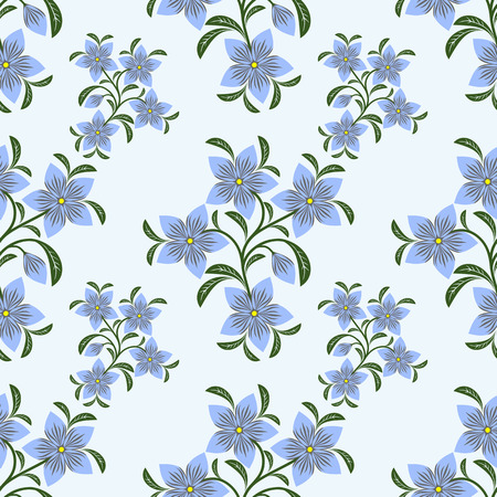 greener: Flower seamless Pattern with blue Flowers.