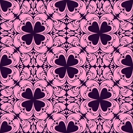 Abstract floral seamless pink Pattern on violet - for design