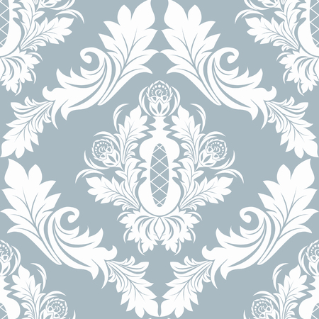 Seamless damask Ornament for Wallpaper design Illustration