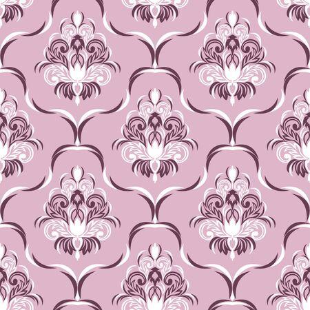 Seamless ornate floral Wallpaper for Design