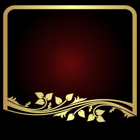 decoration elements: Elegant golden floral Frame for your Information.