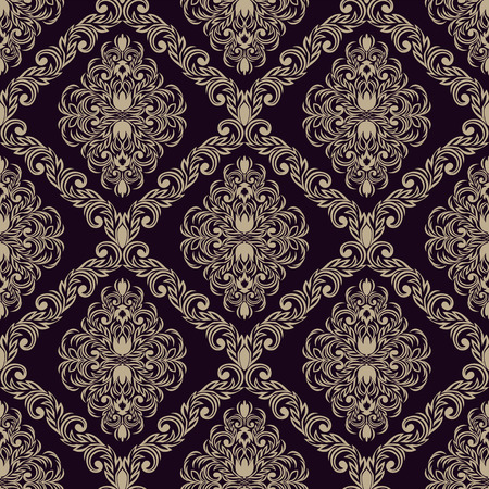 scroll design: Seamless retro damask Wallpaper for design
