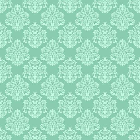 デザインのダマスク織のシームレスな花装飾壁紙