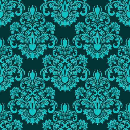 for design: Turquoise seamless floral Pattern for design