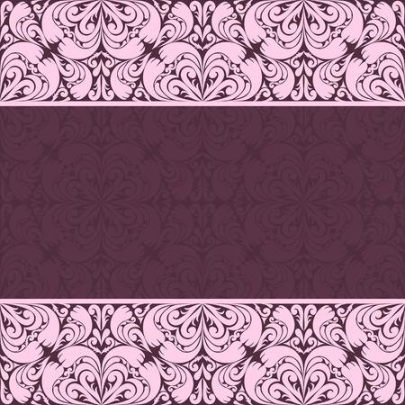 regency: Ornate damask Background for invitation design