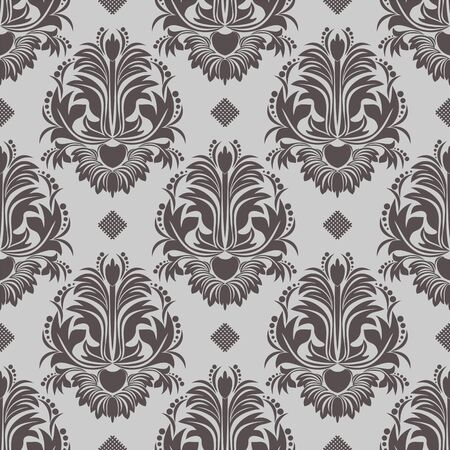 luxurious seamless wallpaper: Retro seamless damask Wallpaper for design