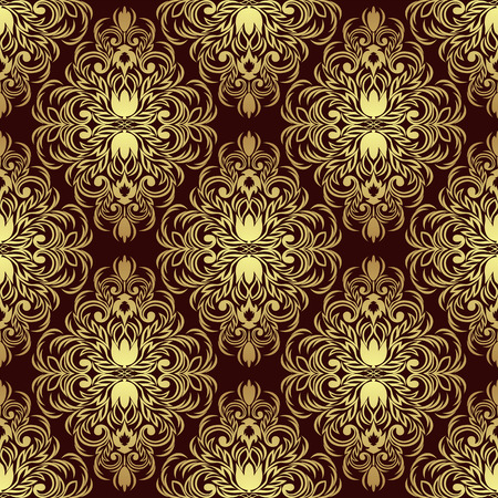 rich wallpaper: Rich seamless ornamental Wallpaper: gold and red.