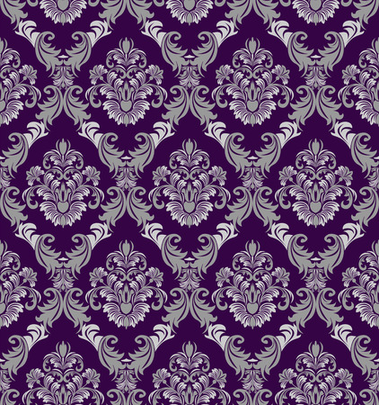 Seamless damask Wallpaper in Victorian style for design Illustration