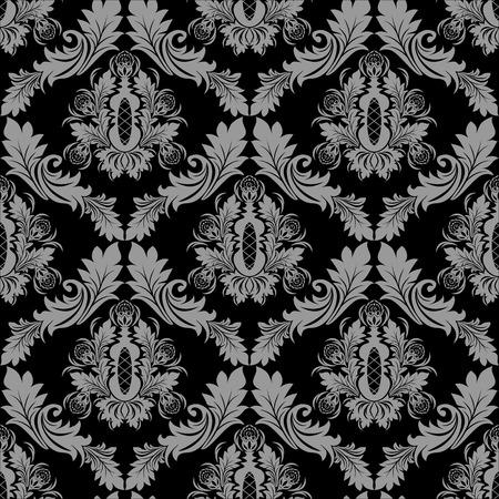 damask wallpaper: Seamless floral damask Wallpaper for design