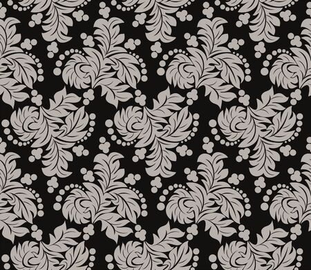 Floral abstract seamless Wallpaper for design Vector