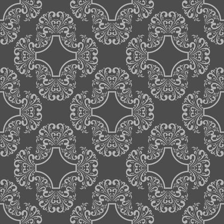 Retro seamless floral Wallpaper for design Vector