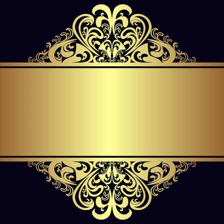 Luxe achtergrond met koninklijke gouden Grenzen en Ribbon.
