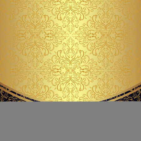 renaissance: Luxury Background decorated the golden floral Pattern.