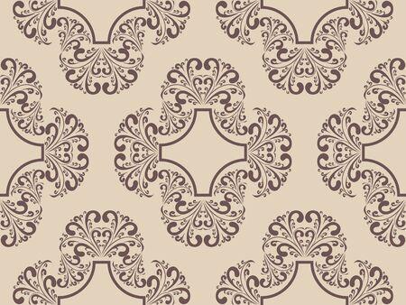 patterns vector: seamless damask retro pattern. Illustration