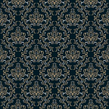 Seamless damask floral Wallpaper