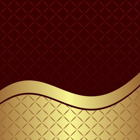 Luxury geometric Background with  golden Border - invite design Illustration