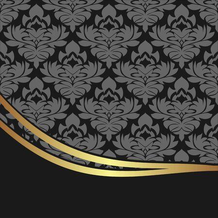 Luxury damask Background with elegant Border
