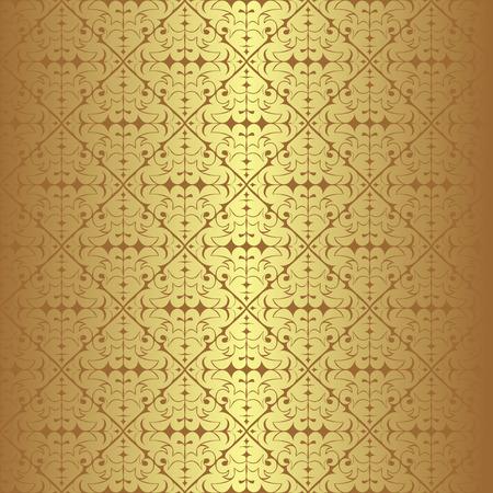 Golden seamless Wallpaper Illustration