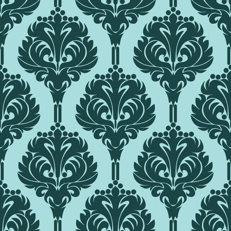 Seamless retro damask Wallpaper