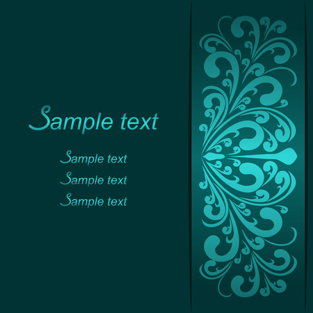 Invite Card with ornamental Border for design
