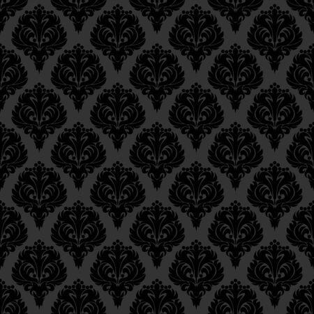 black damask: Seamless black damask Wallpaper