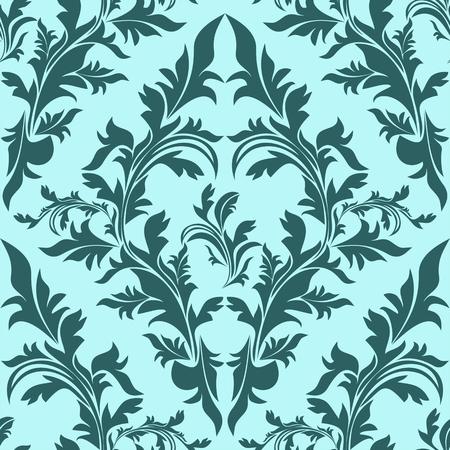 Blue seamless floral Ornament Illustration