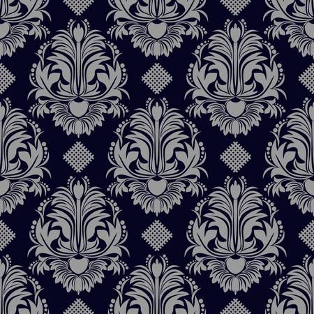 Damask seamless floral ornate Wallpaper for design